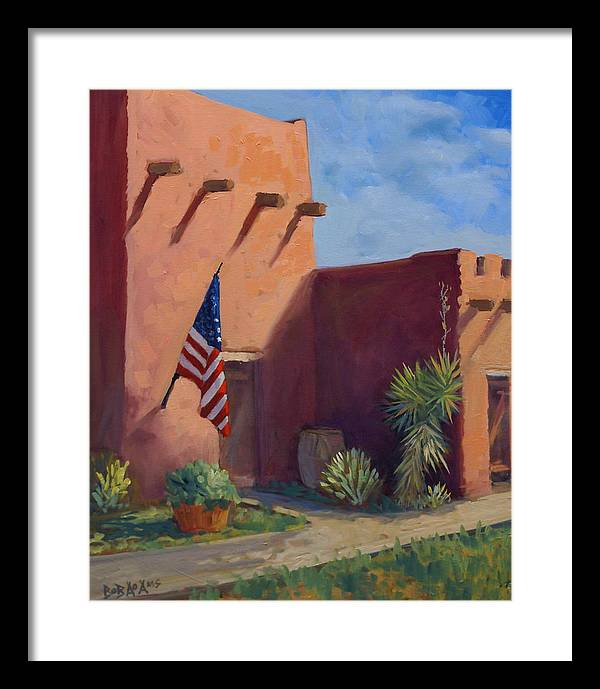 Building Framed Print featuring the painting Old Ft.bliss by Bob Adams