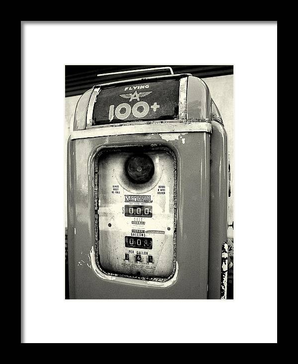 Gasoline Framed Print featuring the photograph Old Gas Pump by DazzleMePhotography