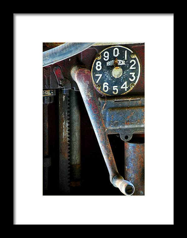 Old Framed Print featuring the photograph Old Gas Pump by Robert Goulet