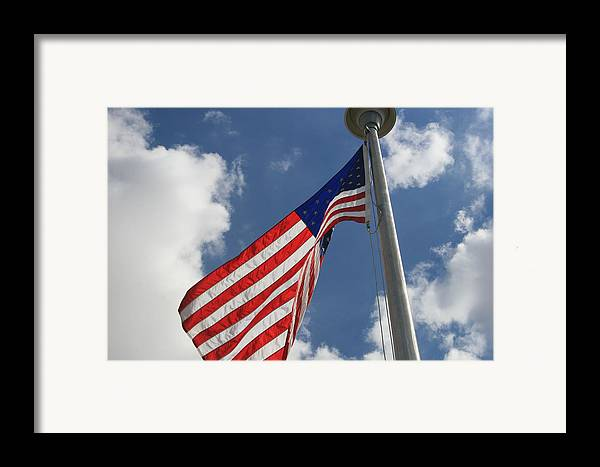 Flag Framed Print featuring the photograph Old Glory 1 by Bob Gardner