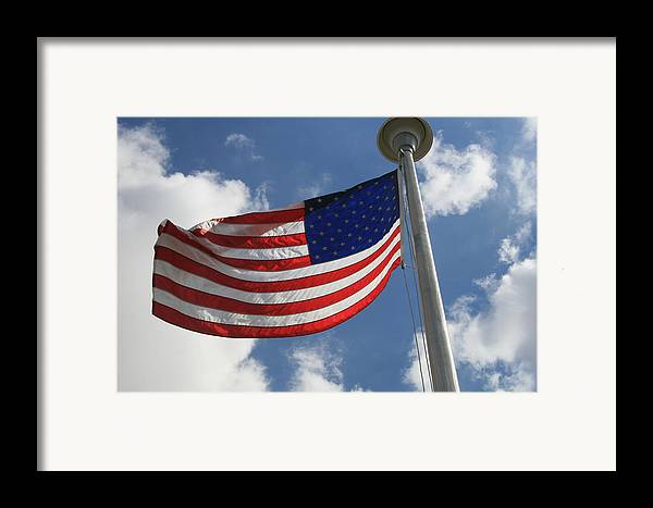 Flag Framed Print featuring the photograph Old Glory 2 by Bob Gardner