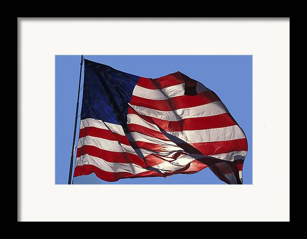 American Framed Print featuring the photograph Old Glory by Carl Purcell