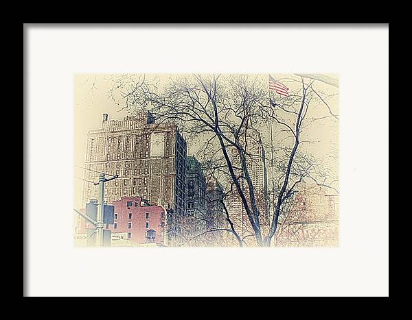 Old Glory Framed Print featuring the photograph Old Glory In Old Style And Empire by Alex AG