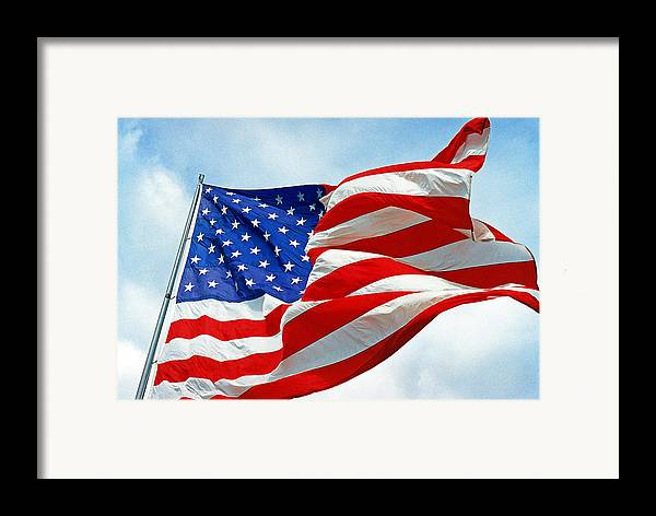 Old Glory Framed Print featuring the photograph Old Glory by Paul Trunk