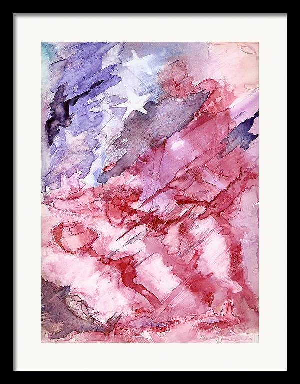 Flag Framed Print featuring the painting Old Glory by Roger Parnow