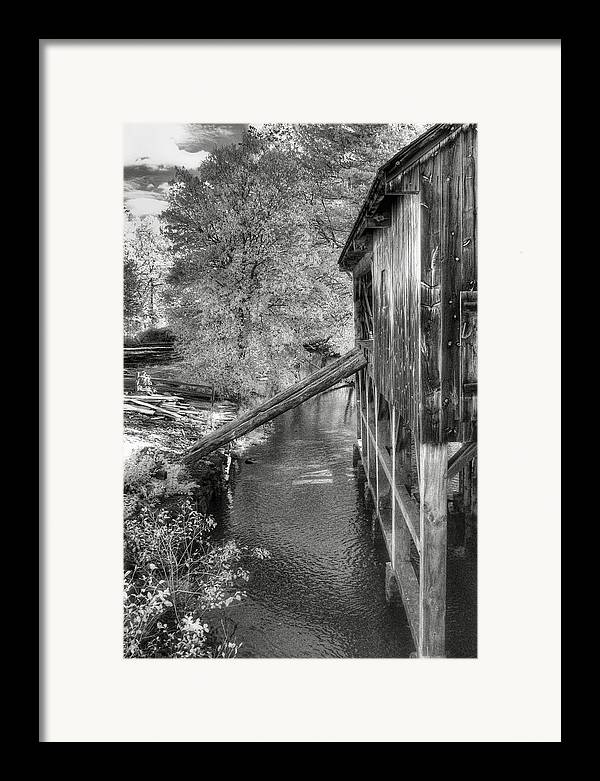 Old Mill Framed Print featuring the photograph Old Grist Mill by Joann Vitali