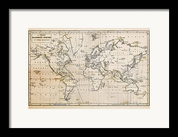 Old hand drawn vintage world map framed print by richard thomas world map framed print featuring the photograph old hand drawn vintage world map by richard thomas sciox Gallery