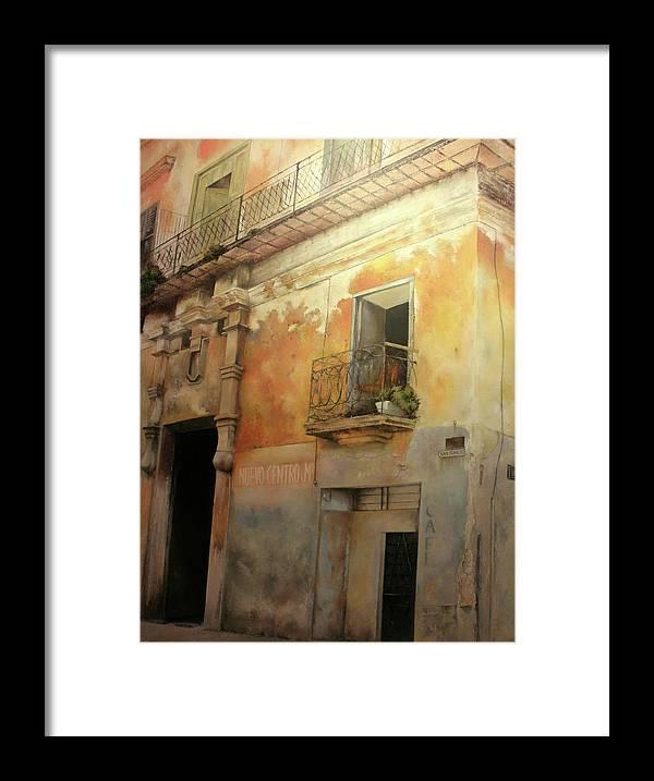 Havana Cuba Framed Print featuring the painting Old Havana by Tomas Castano