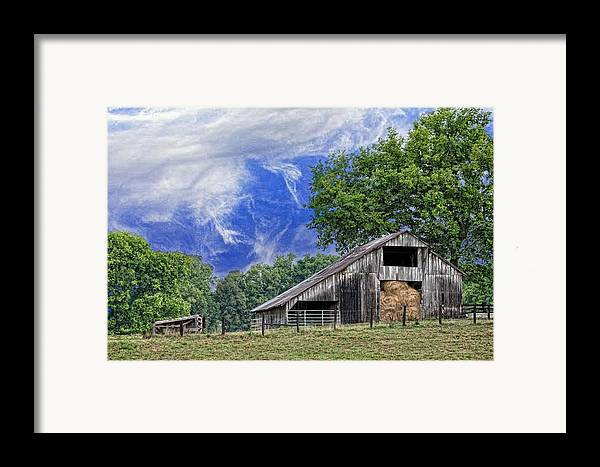 Landscapes Framed Print featuring the photograph Old Hay Barn by Jan Amiss Photography