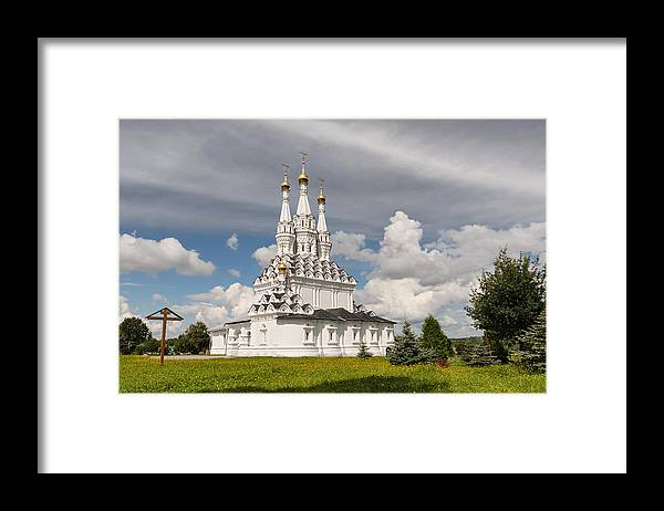 Ancient Framed Print featuring the photograph Old Hodegetria Church In Vyazma by Galina Bondarenko