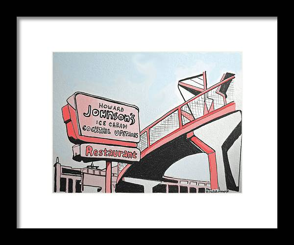 Asbury Art Framed Print featuring the painting Old HoJos by Patricia Arroyo