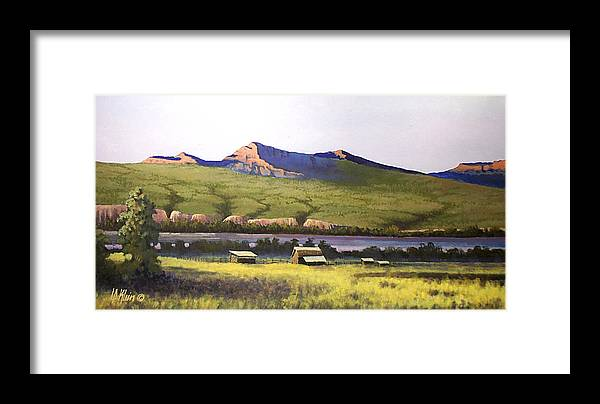 Landscape Framed Print featuring the painting Old Homestead by Dalas Klein
