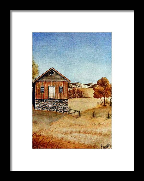 Building Framed Print featuring the painting Old Homestead by Jimmy Smith