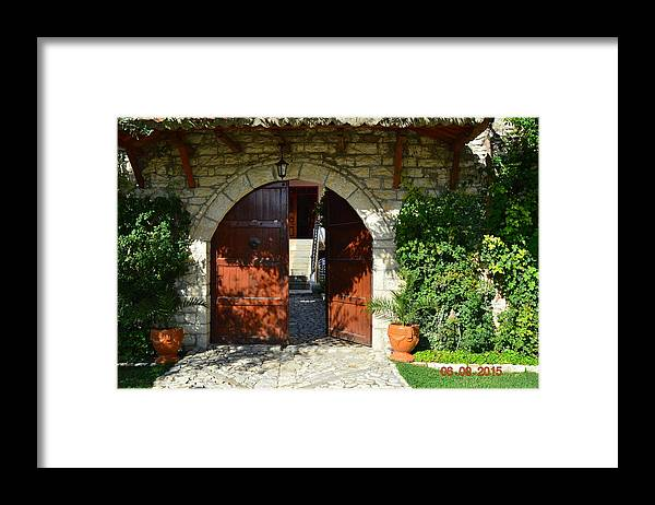 Framed Print featuring the photograph Old House Door by Nuri Osmani