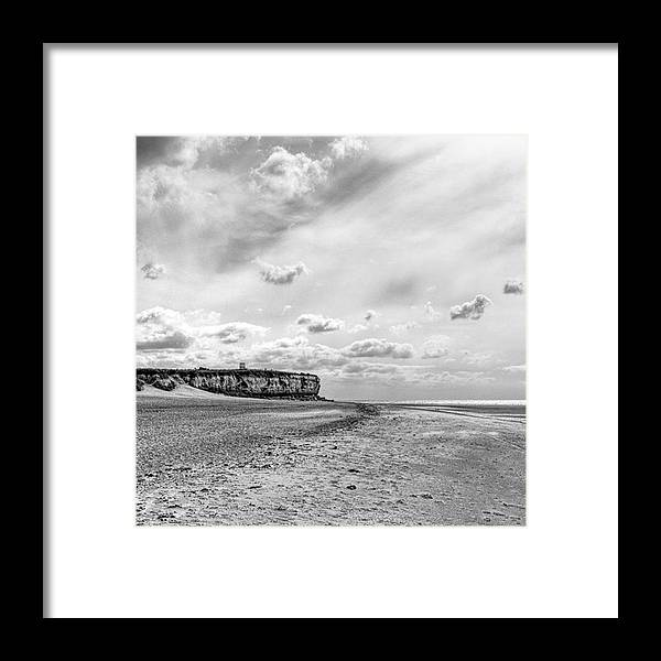 Eastanglia Framed Print featuring the photograph Old Hunstanton Beach, Norfolk by John Edwards