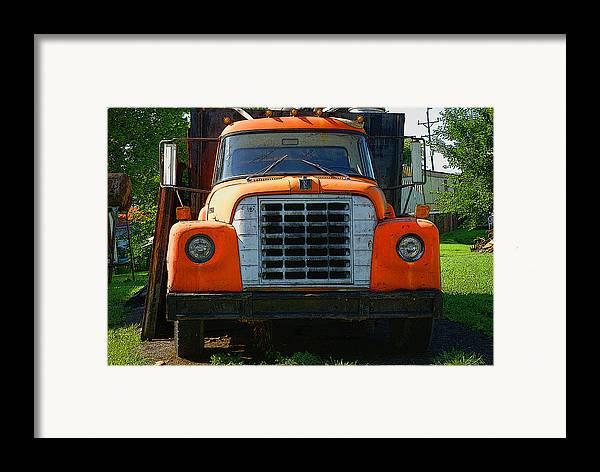 Old international harvester truck framed print by rick decroes for International harvester wall decor