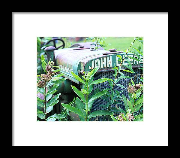 Old Framed Print featuring the photograph Old John Deere by Robert Ponzoni