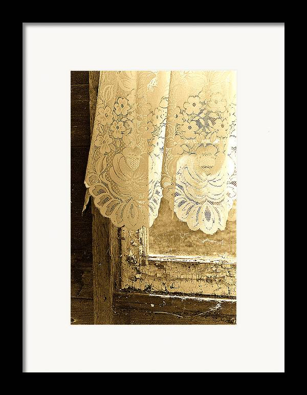Lace Framed Print featuring the photograph Old Lace by Linda McRae