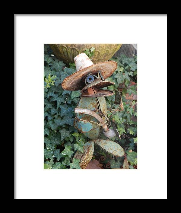 Ivy Creature Framed Print featuring the photograph Jeanne's Garden by ML Everhart