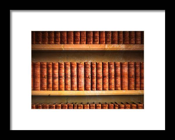 Abundance Framed Print featuring the photograph Old Library by Tom Gowanlock