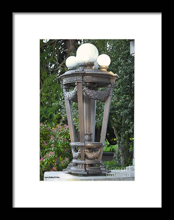 Light Framed Print featuring the photograph Old Lighting by Larry Keahey