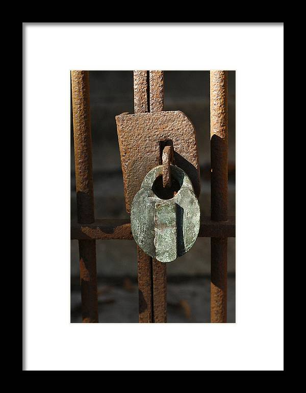Rust Framed Print featuring the photograph Old Lock by David Houston