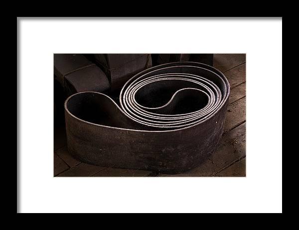 Scott Farm Vermont Framed Print featuring the photograph Old Machine Belt by Tom Singleton