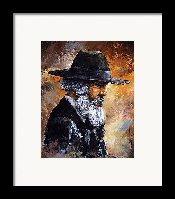 Portrait Framed Print featuring the painting Old Man by Emerico Imre Toth