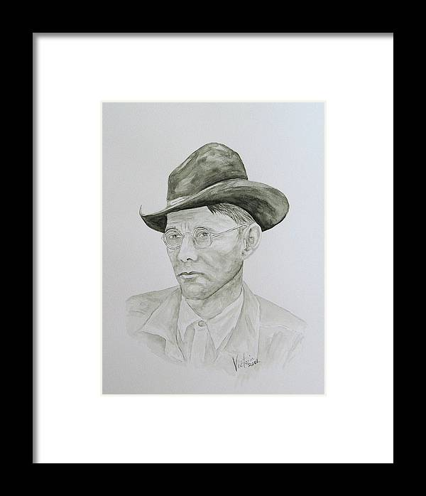 Old Man Framed Print featuring the painting Old Man by Torrie Smiley