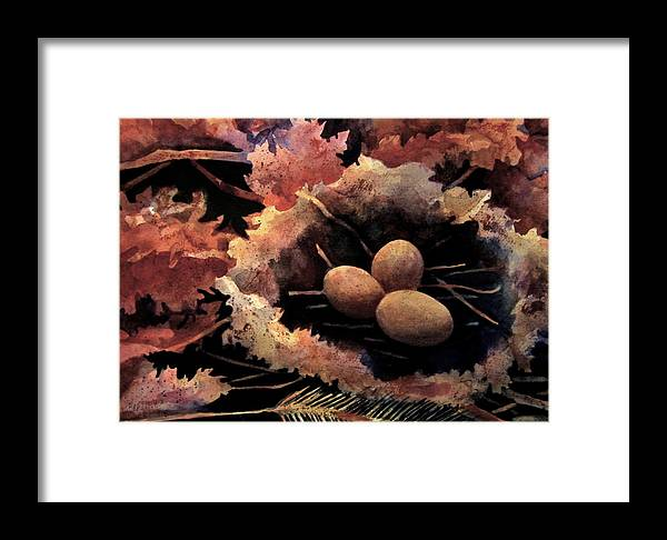 Leaves Framed Print featuring the painting Old Meets New by Debra LePage
