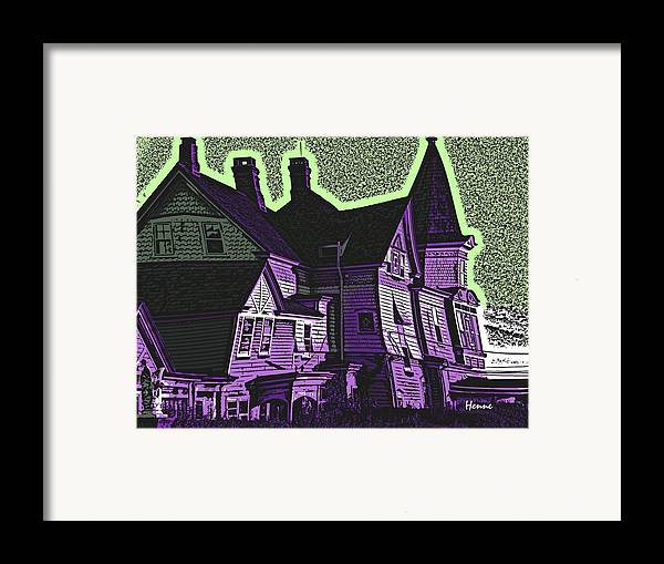 House Framed Print featuring the painting Old Meets New by Robert Henne
