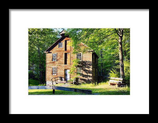 Grist-mill: New Jersey Framed Print featuring the photograph Old Mill In Warm Summer Afternoon Light by George Oze