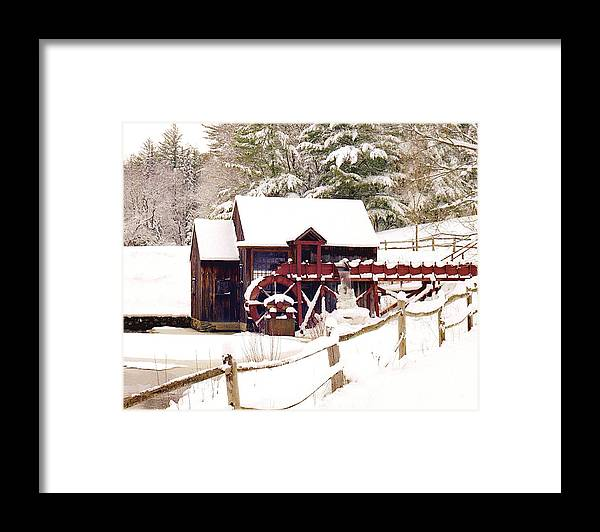 Framed Print featuring the photograph Old Mill In Winter by Roger Soule