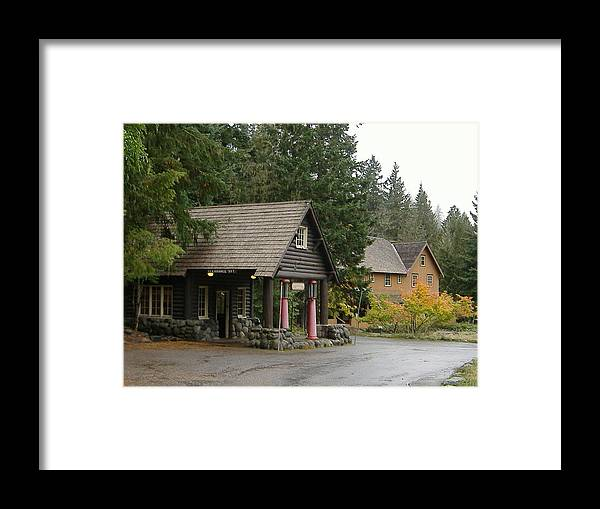 Mountain Gas Station Framed Print featuring the photograph Old Mountain Gas Station by Alice Eckmann
