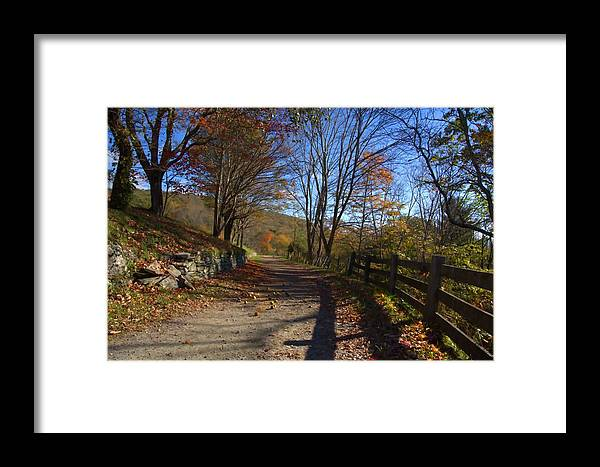 Mountain Road Framed Print featuring the photograph Old Mountain Road by Larry Jones