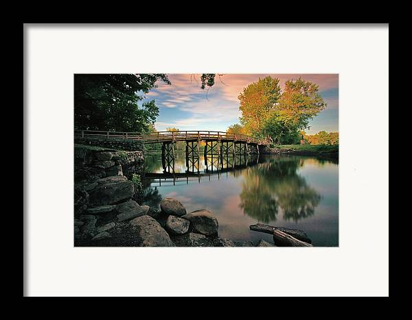 Concord Framed Print featuring the photograph Old North Bridge by Rick Berk