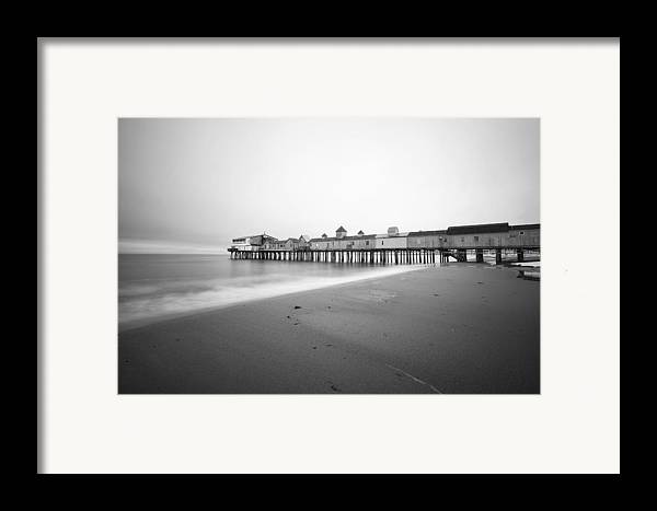 Old Orchard Beach Framed Print featuring the photograph Old Orchard Beach Pier by Eric Gendron