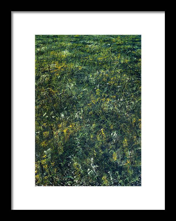 Path Framed Print featuring the painting Old Path by De Es Schwertberger