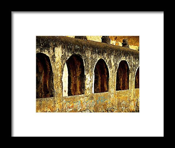 Patzcuaro Framed Print featuring the photograph Old Patzcuaro Wall 3 by Mexicolors Art Photography