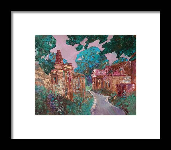 Landscape Framed Print featuring the painting Old Place by Sergey Ignatenko