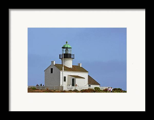 Old Point Loma Lighthouse Framed Print featuring the photograph Old Point Loma Lighthouse San Diego California by Christine Till