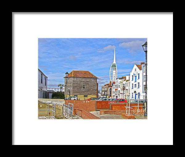 Old Portsmouth Framed Print featuring the photograph Old Portsmouth Flood Gates by Terri Waters