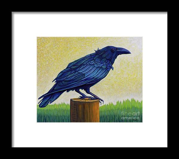 Raven Framed Print featuring the painting Old Priest In Passion by Brian Commerford