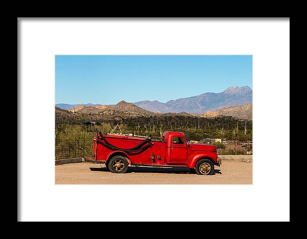 Red Framed Print featuring the photograph Old Red by Brigitte Mueller