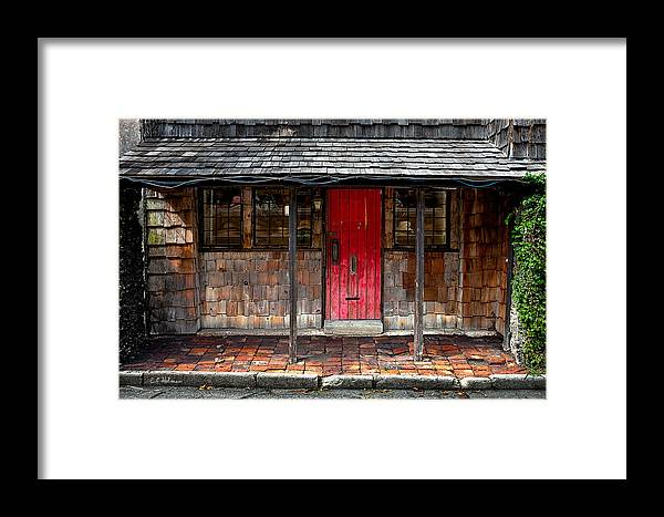 Door Framed Print featuring the photograph Old Red Door by Christopher Holmes