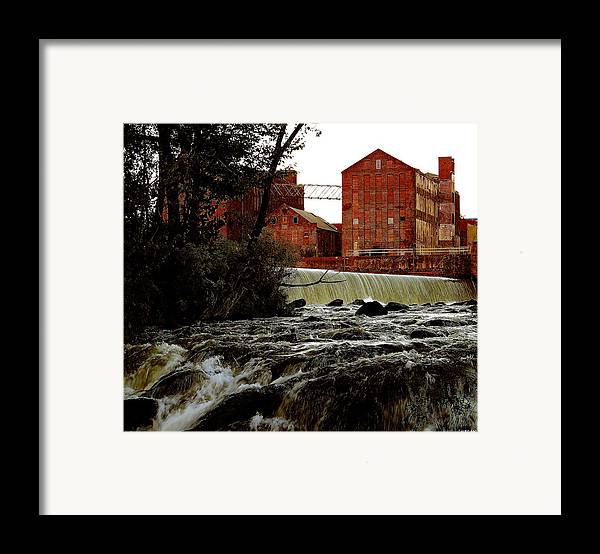 Water Framed Print featuring the photograph Old River Dam In Columbus Georgia by Ruben Flanagan