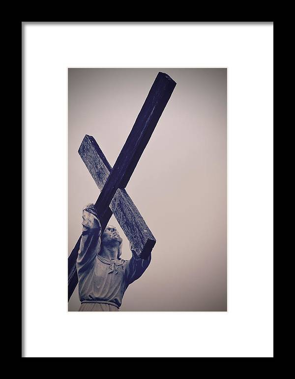 Jesus Framed Print featuring the photograph Old Rugged Cross by Holly Clyburn