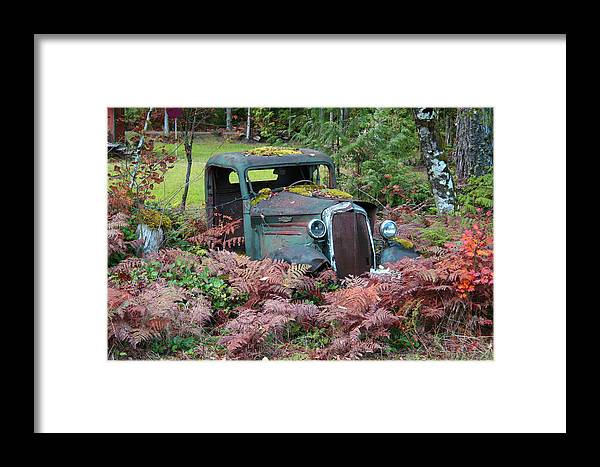 Cars Framed Print featuring the photograph Old Rusty Truck I C1000 by Mary Gaines