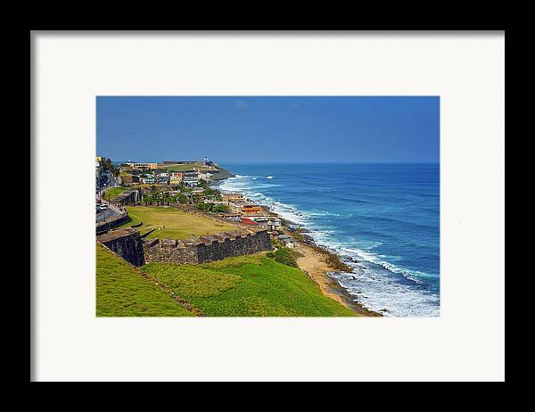 Ocean Framed Print featuring the photograph Old San Juan Coastline by Stephen Anderson