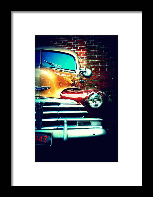 Cars Framed Print featuring the photograph Old Savannah Police Car by Dana Oliver